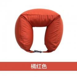 阁金良品家纺 2018新款无印良品风U型枕护颈枕 橘红色