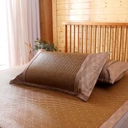 夏天凉枕套藤枕套竹枕套冰丝枕套草席枕套单人枕套凉席双面枕套