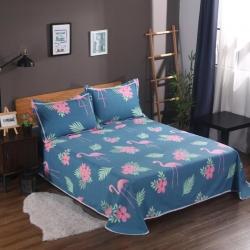 唯自然 纯棉老粗布空调软凉席三件套火鸟-蓝