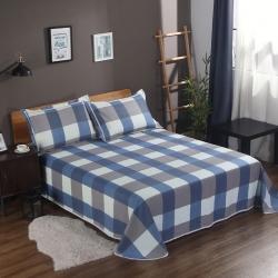 唯自然 纯棉老粗布空调软凉席三件套简慕-蓝