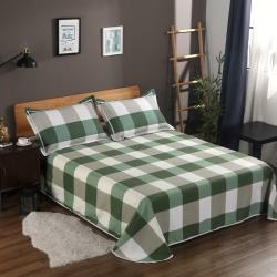 唯自然 纯棉老粗布空调软凉席三件套简慕-绿