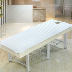 凯曼家纺店 磨毛夹棉美容床垫 白色