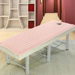 凯曼家纺店 磨毛夹棉美容床垫 粉色