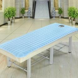 凯曼家纺店 磨毛夹棉美容床垫 蓝色