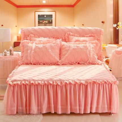 好儿喜家纺 浪漫满屋系列全棉单品床裙 玉色