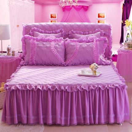 好儿喜家纺 浪漫满屋系列全棉单品床裙 紫色