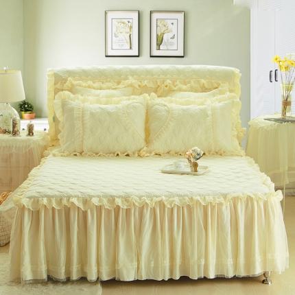 好儿喜家纺 浪漫满屋系列全棉单品床裙 米色