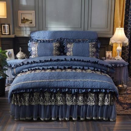 (总)好儿喜家纺 巴黎之夜四件套水洗棉夹棉款套件