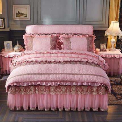 好儿喜家纺 巴黎之夜四件套水洗棉夹棉款套件巴黎之夜-玉色