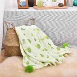 清仓 韩版西兰花绒毯毛毯盖毯法莱绒毯童毯婴儿盖毯韩国小可爱