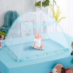 小资生活 免安装婴儿蚊帐绿