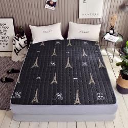 温语家纺 2018新款印花床垫床褥床护垫巴黎之夏