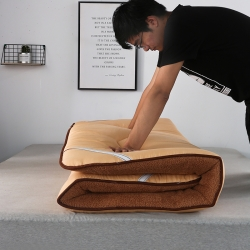 天艺床垫 彩色羊羔绒款(1)床垫 咖色