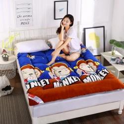 富百世 加厚床垫床褥床双人褥子学生宿舍海绵床垫垫被 猴子