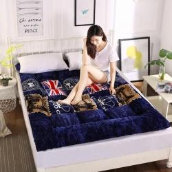 富百世 加厚床垫床褥床双人褥子学生宿舍海绵床垫垫被 英伦风情
