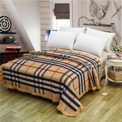 小米家 新款多功能水晶绒纯棉床盖密道绗缝被2米  宝利格