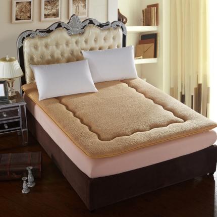 加厚榻榻米羊羔绒床垫单人双人可折叠1.5/1.8m床垫床褥