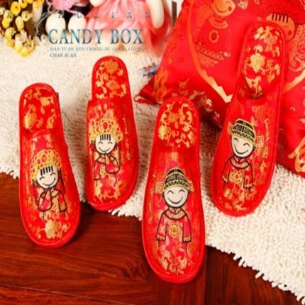 浩情国际 婚庆拖鞋老公老婆拖鞋