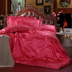 梦巢家纺 提花四件套床上用品套件