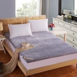 敢为床垫 立体绗绣加厚法莱绒床垫