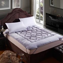 敢为床垫 精致保暖法莱绒床垫 银灰