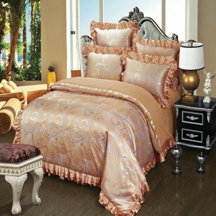 小时代家纺韩版提花床盖四件套