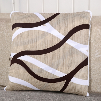 甜家美居 升级版四季通用磨毛印花抱枕被 简单生活