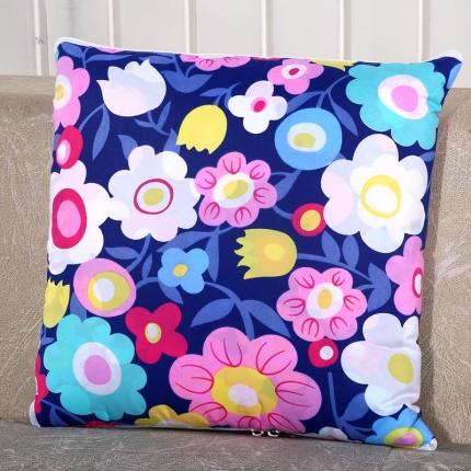 甜家美居 升级版四季通用磨毛印花抱枕被 小碎花