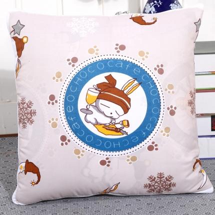 甜家美居 新升级版四季通用磨毛印花抱枕被 流氓兔