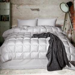 富乐屋家纺 保暖舒适温莎尊贵羽绒被纯白