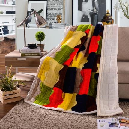 (总)绒品之家 多功能法兰绒夹棉毛毯