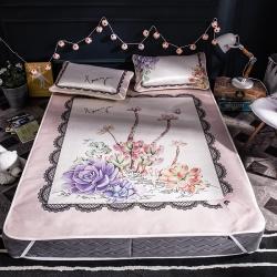 (总)美澳家纺  专版大版卡通花卉潮牌凉席冰丝席