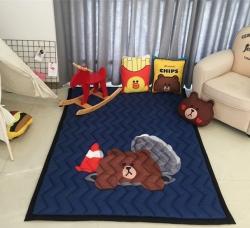 悦活家居 加厚儿童爬爬垫棉质地垫-井盖熊