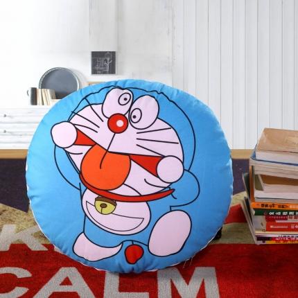 甜家美居 2016卡通定位圆形绗缝抱枕被机器猫调皮