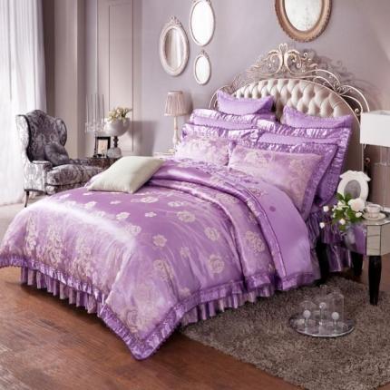 (总)小时代家纺 提花加棉床裙床罩六件套