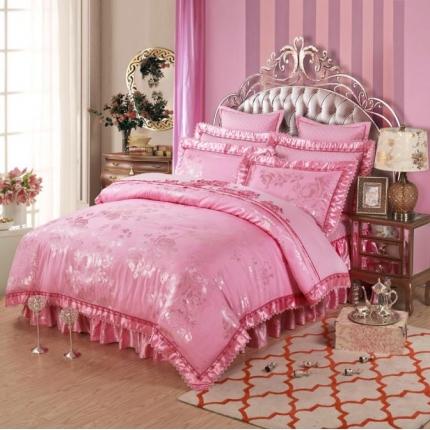 小时代家纺 提花加棉床裙床罩四件套 莱茵舞曲