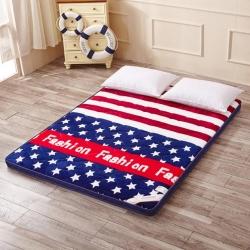 加厚法兰绒立体床垫床褥可折叠学生宿舍珊瑚绒软垫子单人双人垫被