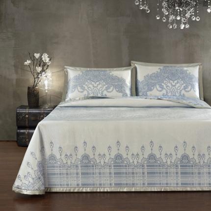 汉方养生席 床单款凉席(含包装和防滑垫) 奥萝拉-蓝