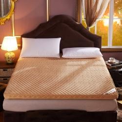 珊瑚绒加厚软床垫子折叠床褥防滑榻榻米学生单人 双人宿舍