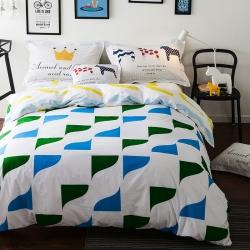 风向标家纺专版北欧简约混搭130*70四件套床单款 彩虹心情