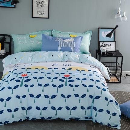 风向标家纺专版北欧简约混搭130*70四件套床单款 希望树