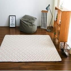 (总)富乐屋家纺 日式小清新活性印染全棉地垫