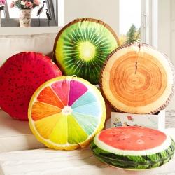(总)布语家纺 3D水果两用抱枕沙发办公室午休枕头包边被