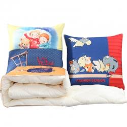 布语家纺 棉麻抱枕被包边被办公室午休枕头靠垫