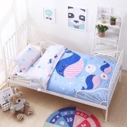 御棉坊 大版系列幼儿园三件套幼儿园被子婴童三/六件套小鲸鱼