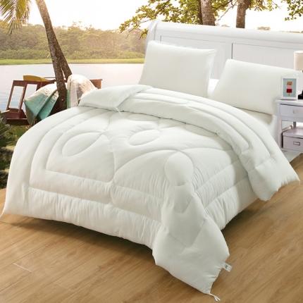 素色水洗棉冬被   白色
