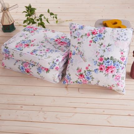 全棉抱枕被 精美花饰多功能两用汽车靠垫被 沙发靠垫空调被批发