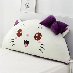 永光家居 印花卡通靠背床头靠垫大靠背床头软包 可爱猫-紫