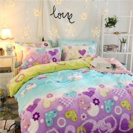 星语心愿  44个法莱绒四件套床单款【所有花色床笠款可定做】