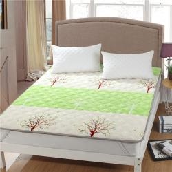 水晶宝宝绒床垫防滑保暖床褥床护垫可机洗软垫薄垫榻榻米春意盎然